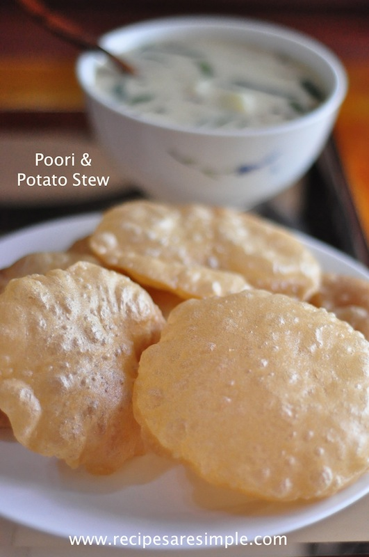 Poori Recipe - With Potato Curry