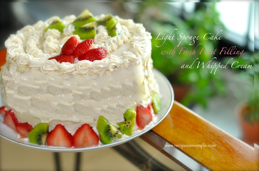 sponge cake with fresh fruit filling recipe - Recipes  R ...