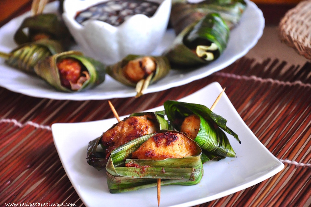 Thai Pandan Chicken Recipe video Thai Pandan Chicken Recipe Gai Hor Bai Toey [ไก่ห่อใบเตย]