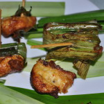 pandchickunwrapped 150x150 Thai Pandan Chicken Recipe Gai Hor Bai Toey [ไก่ห่อใบเตย]