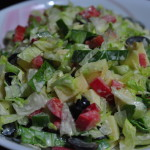 tossedsalad with Olive and grapes. 150x150 Thai Mango Salad Fusion Recipe with Paneer/Cottage Cheese