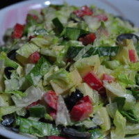 tossedsalad with Olive and grapes. e1369707933817 200x200 Salads and Starters