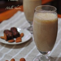 date and almond shake 200x200 Drinks and Beverages