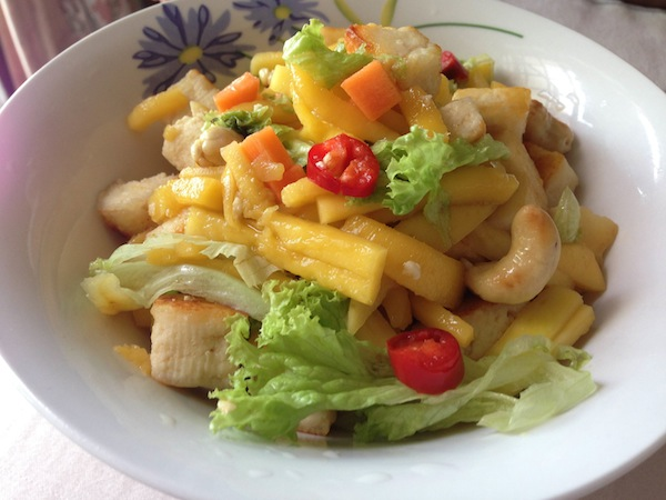 mangofusioncarrot Thai Mango Salad Fusion Recipe with Paneer/Cottage Cheese