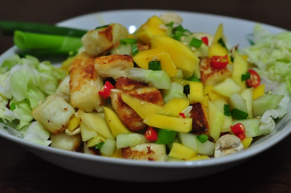 thaifusionsalad7 Thai Mango Salad Fusion Recipe with Paneer/Cottage Cheese