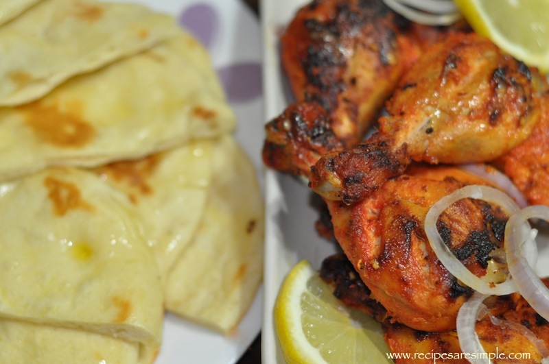 Tandoori Chicken and Naan Home Made Naan
