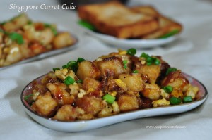 Singapore Carrot Cake Fried Carrot Cake Recipe With Video
