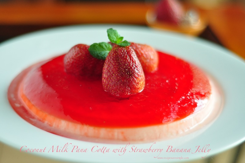 pana cotta Coconut Milk Pana Cotta with Jelly Recipe