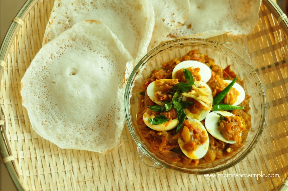 appam egg roast Appam Recipe | Palappam | Vellayappam 3 methods ( with Ground Rice, with Rice Flour and without Yeast