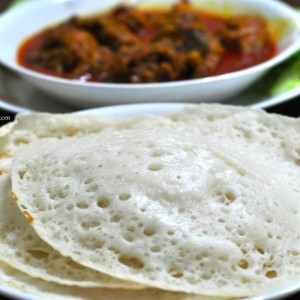 chicken curry for appam 5 300x300 Appam Recipe | Palappam | Vellayappam 3 methods ( with Ground Rice, with Rice Flour and without Yeast