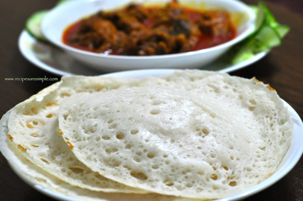 chicken curry for appam 5 Appam Recipe | Palappam | Vellayappam 3 methods ( with Ground Rice, with Rice Flour and without Yeast
