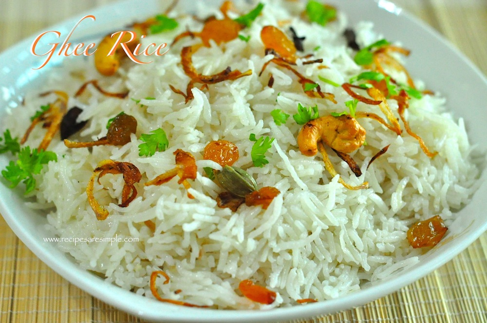 ghee rice Ghee Rice / NeyChoru made in a Rice Cooker