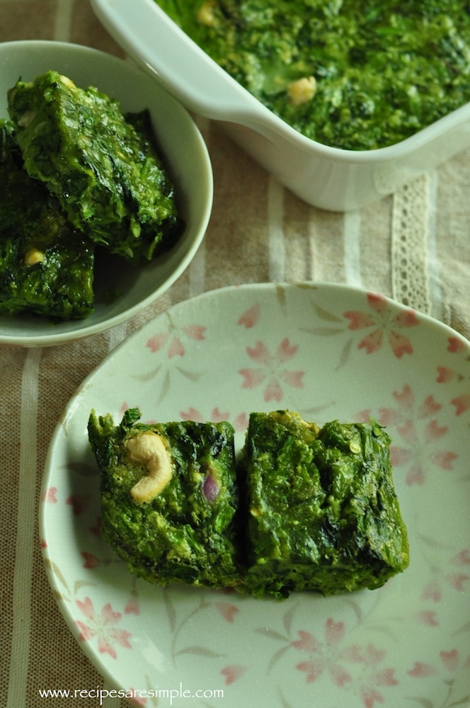 spinach bake Simple Baked Spinach Squares Tasty Recipe