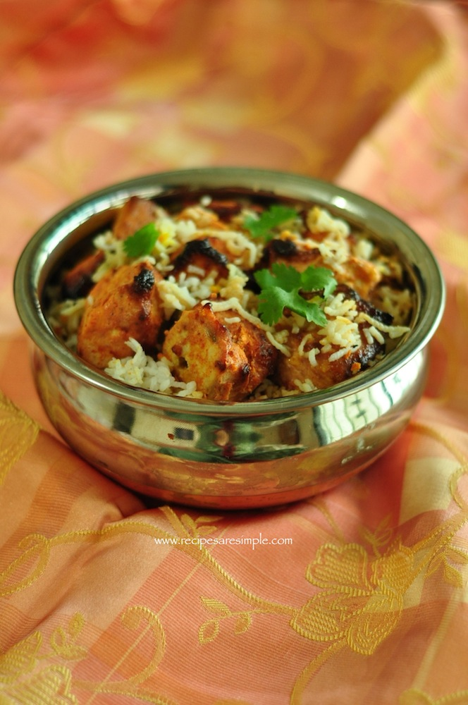 chicken tikka biryani 2 Chicken Tikka Biryani Lighter and Simple to Make