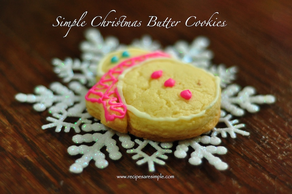 christmas cookies 2 Easy Christmas Butter Cookies with Icing