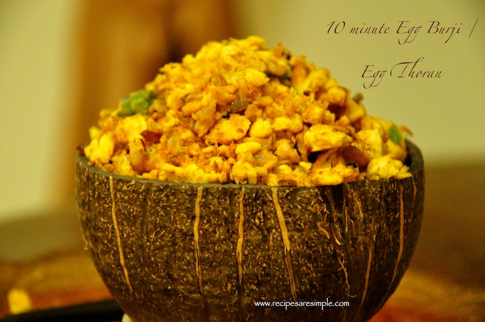 egg thoran Coconut Egg Bhurji / Egg Thoran in 10 minutes.