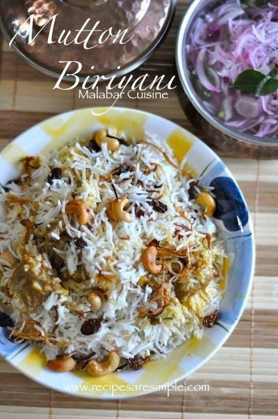Mutton Biriyani Malabar Mutton Biryani Kerala Cuisine with Video