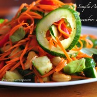 carrot and cucumber salad 200x200 Salads and Starters