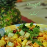 chili ginger pineapple salad 150x150 Pineapple Pachadi Sweet and Savory Pineapple Curry with Yoghurt and Coconut
