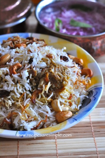 malabar mutton biriyani 3 Malabar Mutton Biryani Kerala Cuisine with Video