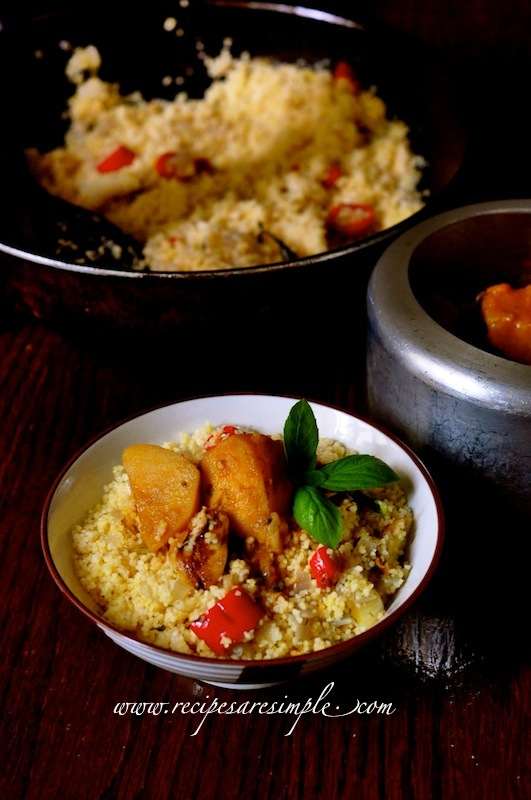 couscous recipe Savory Couscous with Curried Potato