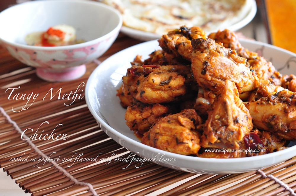 methi chicken Easy Tangy Methi Chicken Recipe