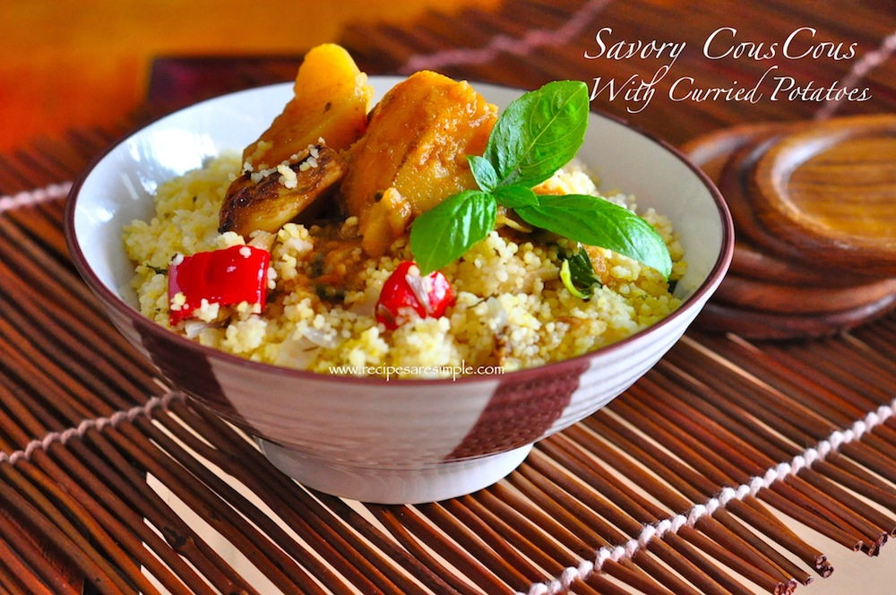 savory couscous Savory Couscous with Curried Potato