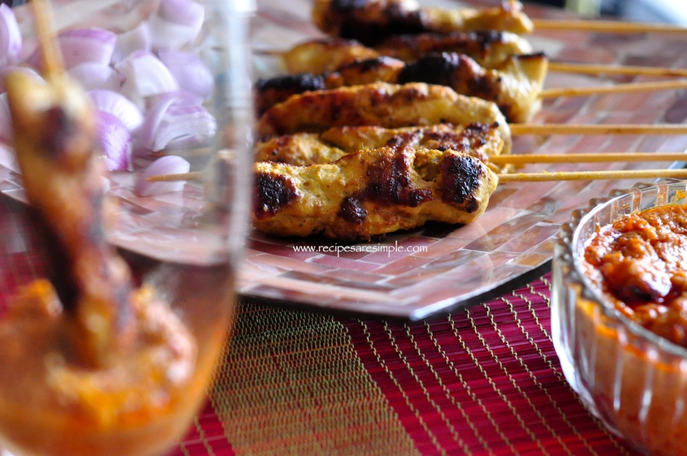 Chicken Satay Recipe - Malaysian - Indonesian BBQ Skewers
