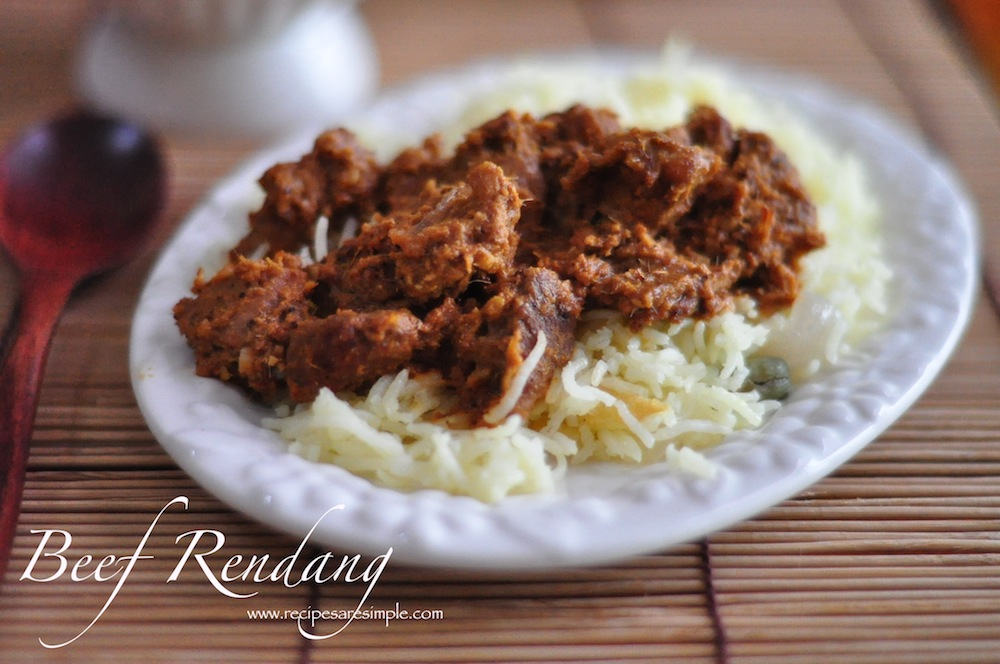 Beef Rendang - Rendang Daging - Cooked without oilRecipes ...