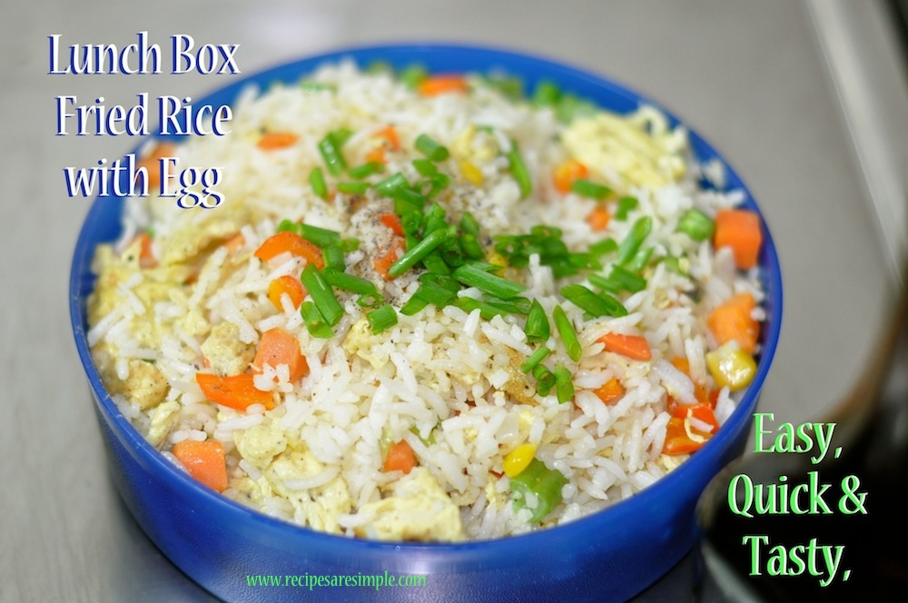 Lunch box fried rice vegetable and egg fried rice lunch box fried rice vegetable and egg fried rice quick and easy ccuart Choice Image