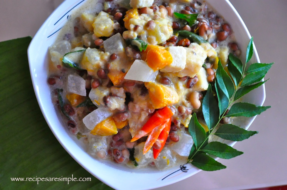 olan recipe c Special Olan Recipe Stewed Brown Cow Peas and Vegetable in Coconut Milk