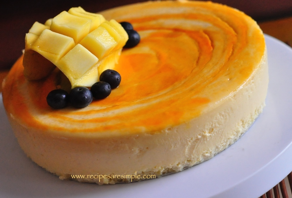DSC 0746 Mango Cheesecake with Sponge Base