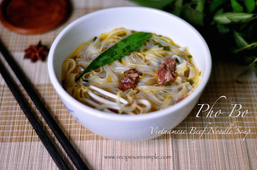 Vietnamese Pho Bo Vietnamese Pho Bo Rice Noodles in Slow Cooked Beef Broth