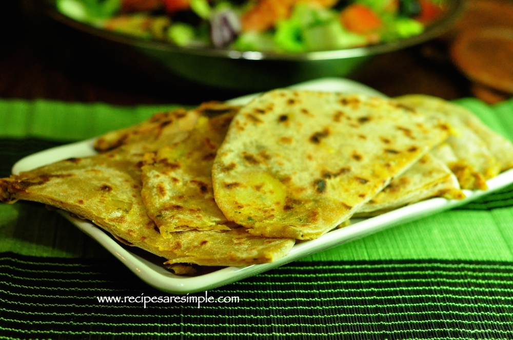aloo paratha recipe Aloo Paratha Stuffed Indian Flatbread with Cooked Potato Filling