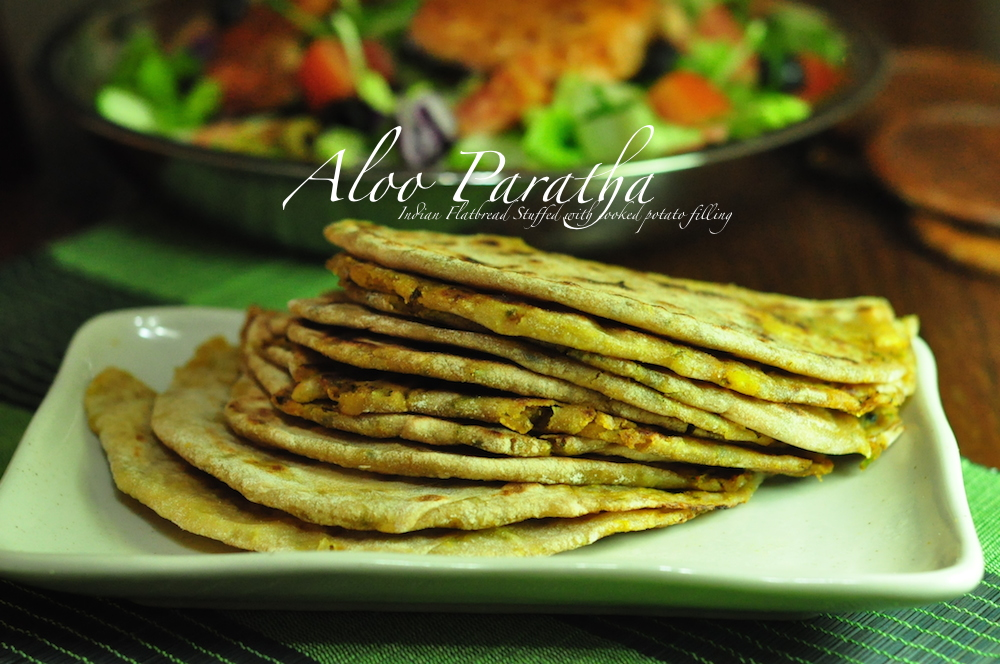 aloo paratha Aloo Paratha Stuffed Indian Flatbread with Cooked Potato Filling