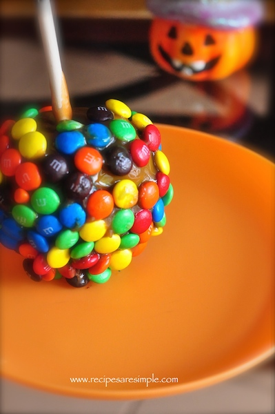 caramel coated apples M & M Caramel Apples
