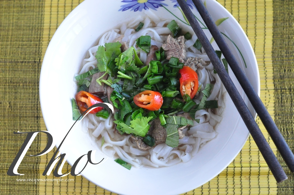 %name Vietnamese Pho Bo Rice Noodles in Slow Cooked Beef Broth