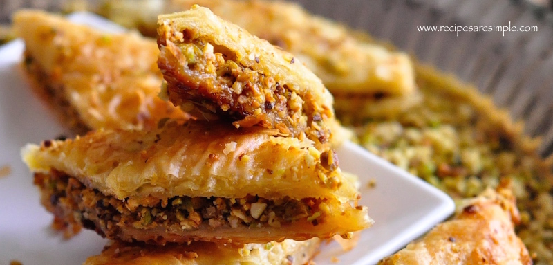 baklava with pistachio and cashew nuts video Baklava with Pistachio and Cashew Nut