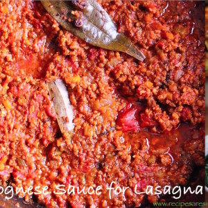 bolognese sauce for lasagna 300x300 Beef & Mutton Recipes