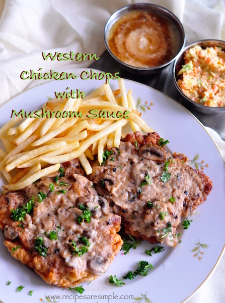 Western chicken chops with mushroom sauce recipes r simple western chicken chops with mushroom sauce forumfinder Gallery