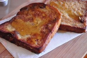 banana bread french toast 300x199 French Toast Recipes in a few different styles