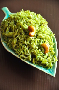 green chilli fried rice recipe 199x300 Green Chili Fried Rice with Cashew