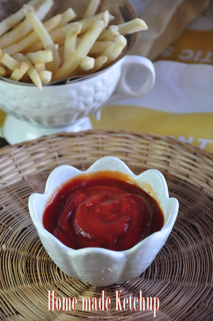 home made ketchupe Tomato Ketchup Recipe How to make Tomato Ketchup