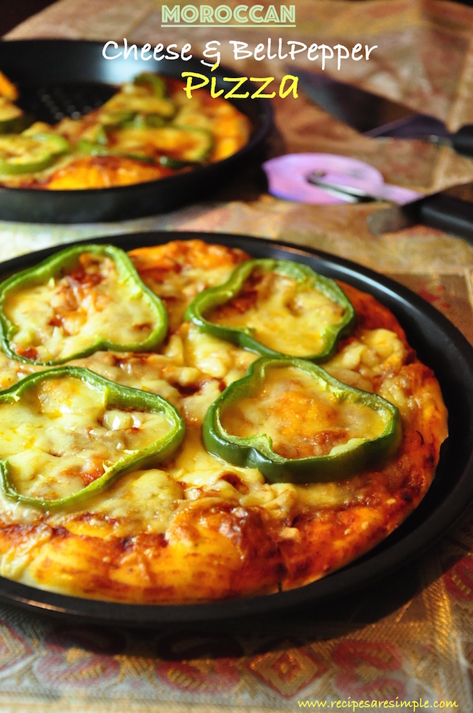 cheese and bell pepper pizza Cheese and Bell Pepper Pizza Moroccan Style