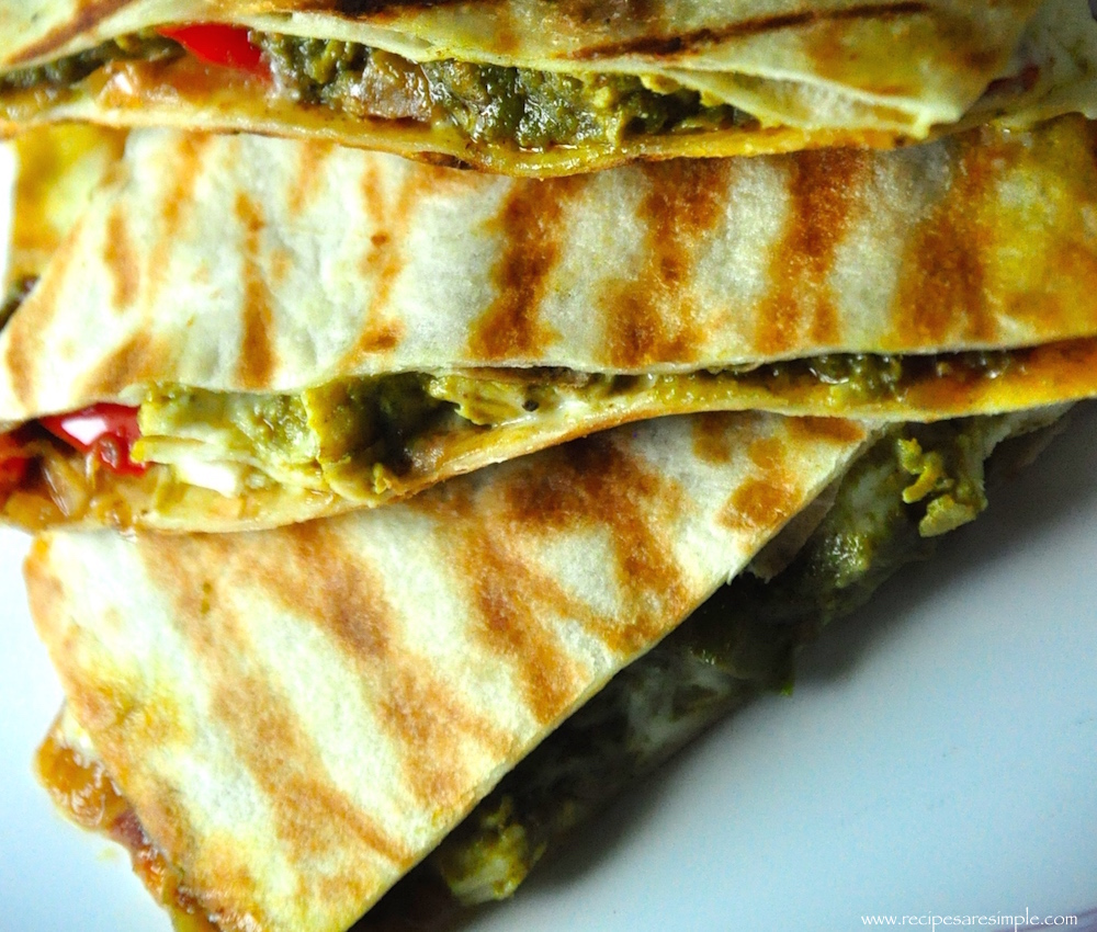 how to use left over palak chicken Palak Chicken Quesadilla Mexico meets India