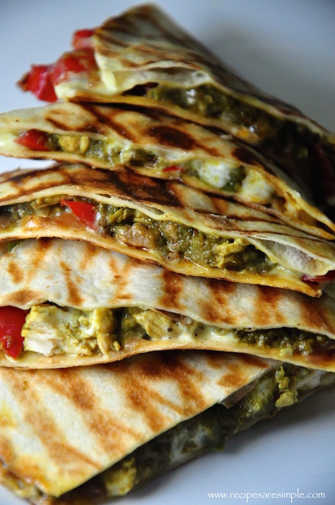 palak chicken quesadilla recipe 680x1024 Palak Chicken Quesadilla Mexico meets India