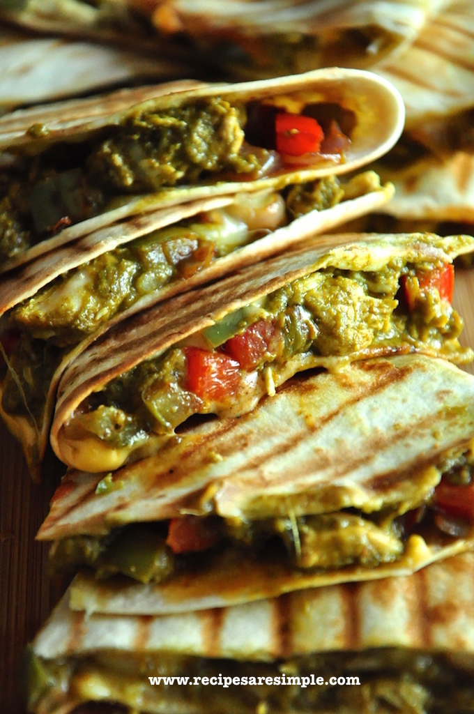 palak chicken quesadilla recipe2 Palak Chicken Quesadilla Mexico meets India