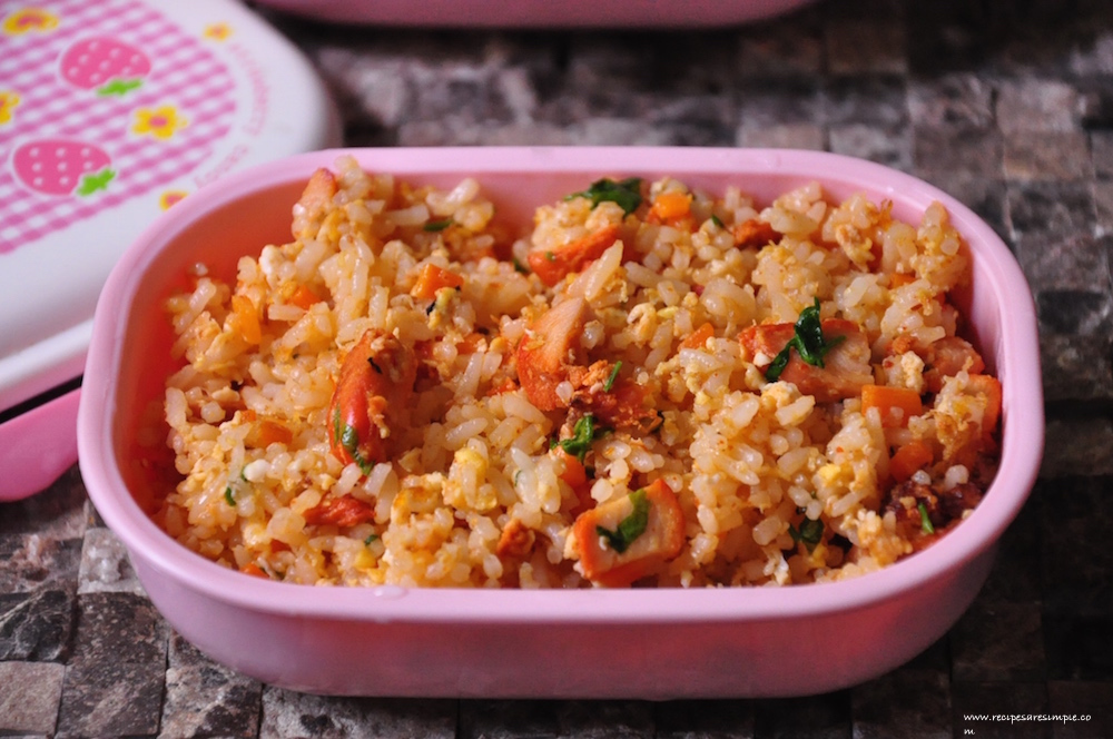 chicken tikka fried rice for kids lunch box Quick Chicken Tikka Fried Rice