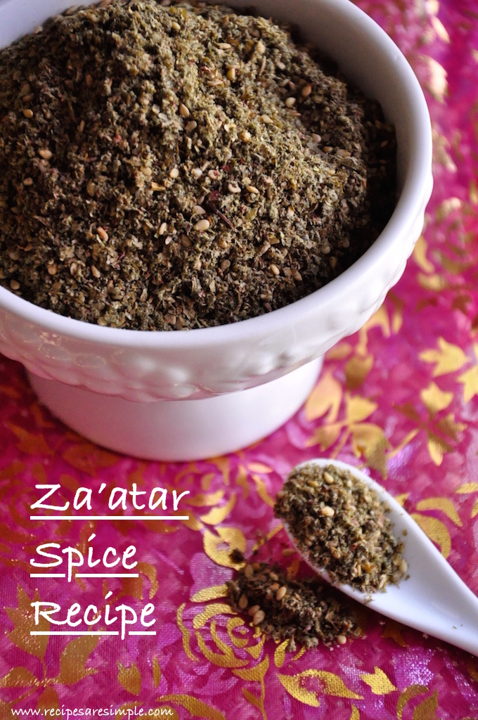 zaatar spice recipe Zaatar Spice Recipe (Zaatar Middle Eastern Spice)