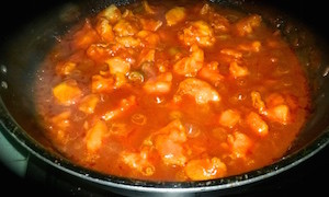 chicken manchurian 14 300x180 Chicken Manchurian Quick and Simple with Red Gravy